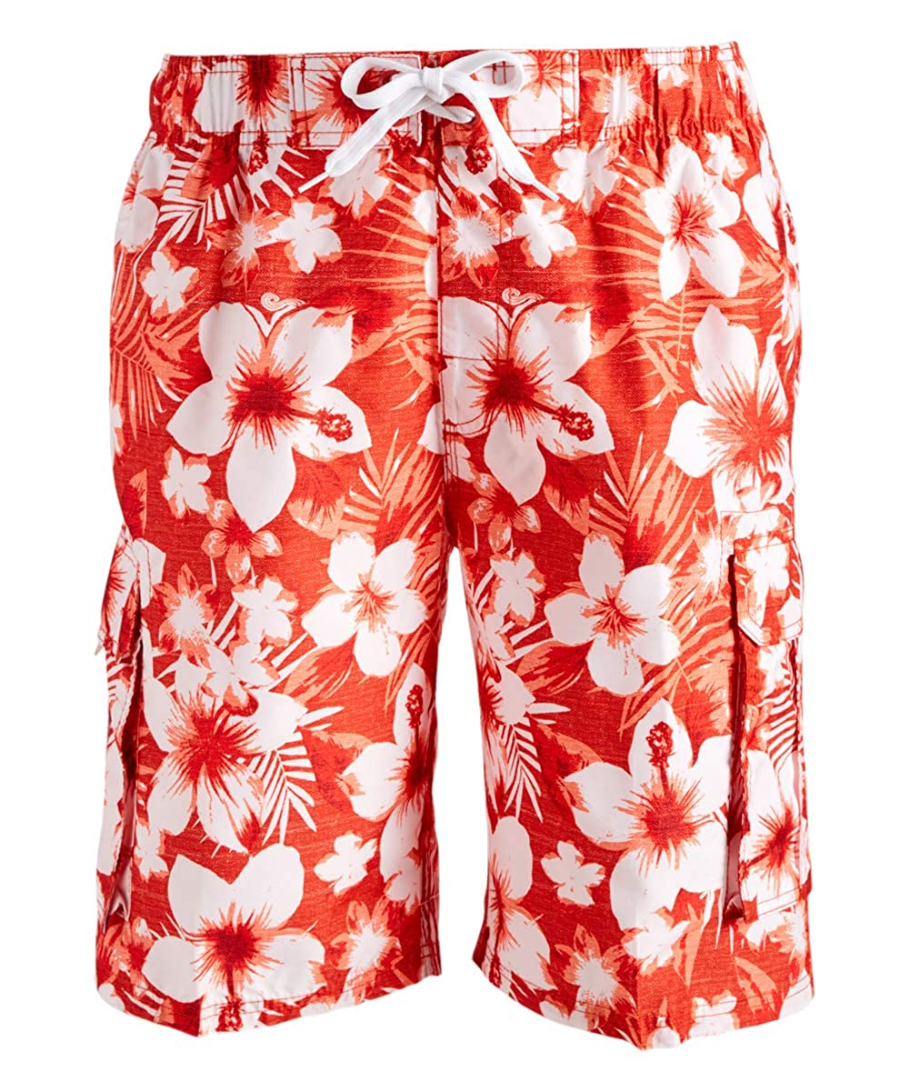 Kanu Surf Men's Dominica Floral Quick Dry Beach Board Shorts Swim Trunk 5456