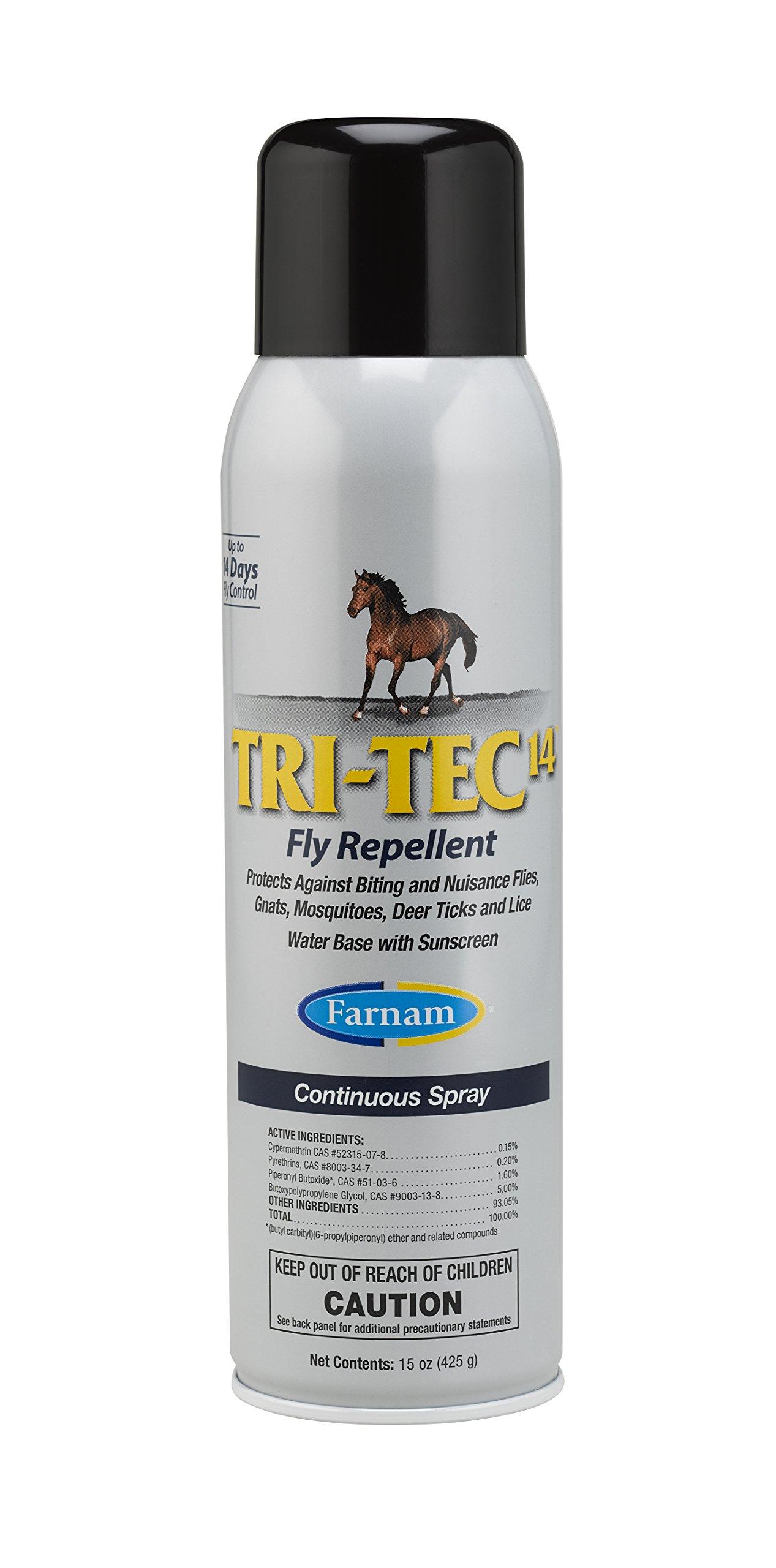 Farnam Tri-Tec 14 Equine Fly Repellent, 15 oz. Continuous Spray