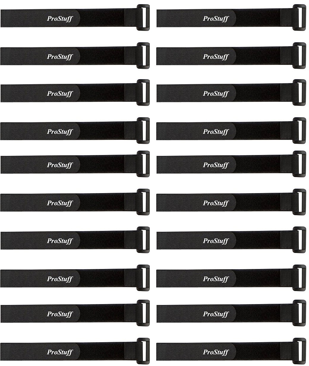 Hoses Bundling Boxes ProStuff 5582704659 Wires Office 20 Pack 0.8 x 8 Reusable Hook and Loop Cinch Cable Tie Down Straps Set for Cord Management Home Garage