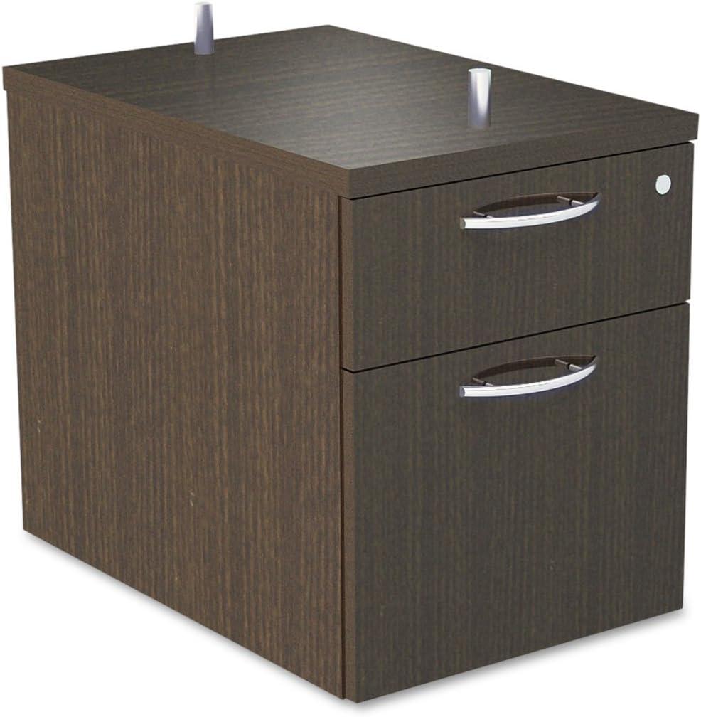 Alera SE551622WA Alera Sedina Series Hanging Box/File Pedestal, 15 3/8w X 22d X 19h Modern Walnut