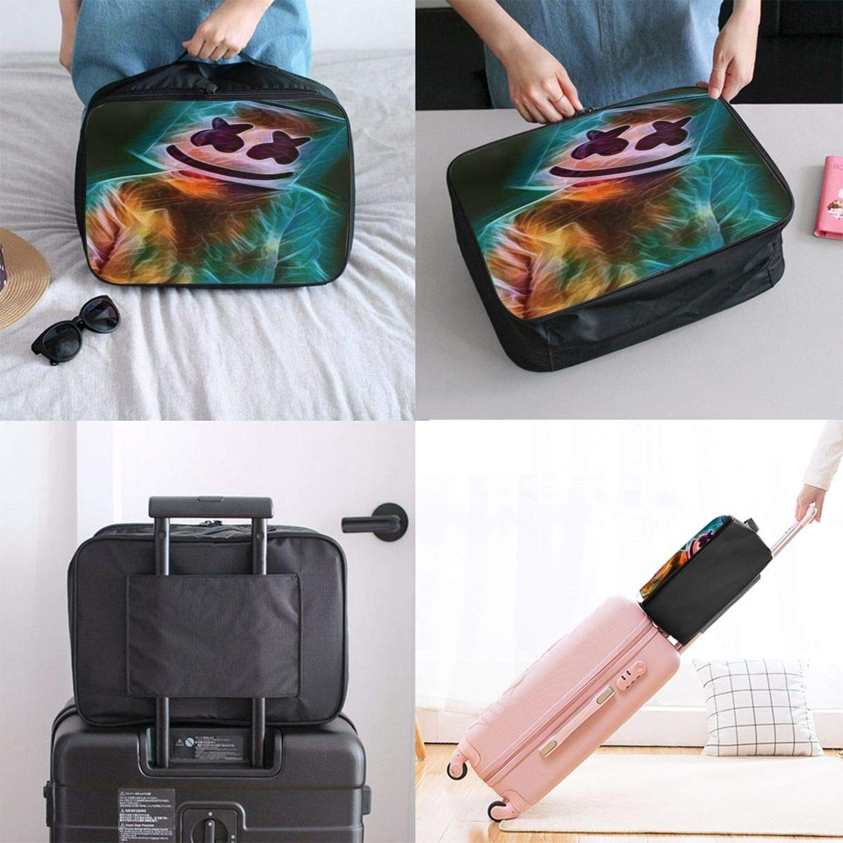 Ma/_rs/_hme/_llo Large Capacity Portable Luggage Bag Travel Lightweight Waterproof Storage Carry Luggage Duffel Tote Bag