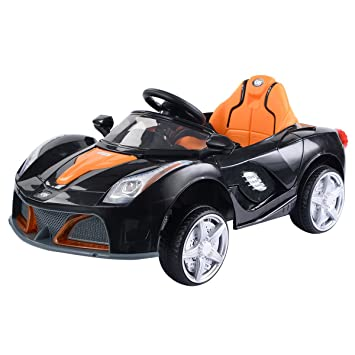 costzon 12v battery powered kids ride on car rc remote control w led lights music