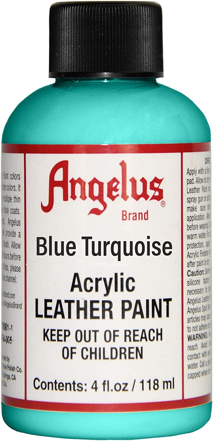Angelus Leather Paint 4 oz Blue Turquoise
