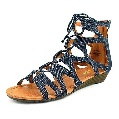 57996213aa3 Crown Vintage Sarah Women US 7 Blue Gladiator Sandal  Amazon.ca  Shoes    Handbags