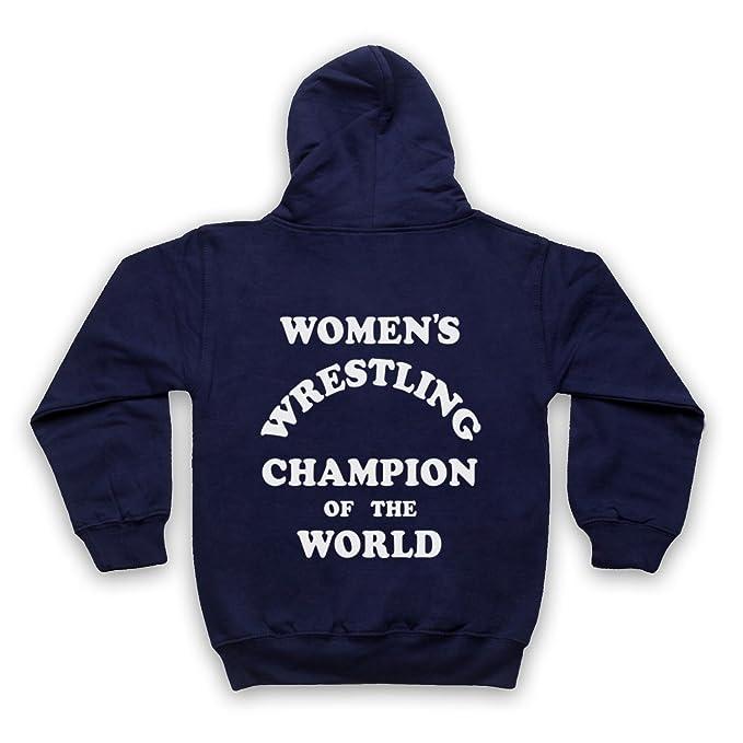 Womens Wrestling Champion of The World Niños Sudadera con Capucha con Cremallera: Amazon.es: Ropa y accesorios