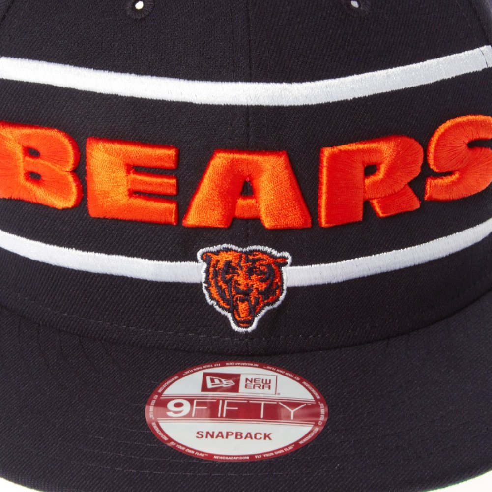 A NEW ERA NFL Gorra - Chicago Bears - Word Stripe Snapback Negro XL  Amazon. es  Ropa y accesorios ea10af527a3