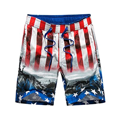 ROBFE Swim Shorts for Men, Loose Beach Shorts Quick Dry Trunks Volley Shorts Men's Swimwear Water Shorts With Pockets