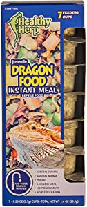 Healthy Herp Juvenile Dragon Food Instant Meal 7 x 0.20-Ounce (5.7 Grams) Cups