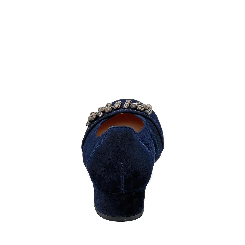 Gabor 86.214-36 Damen Wechselfußbett Pumps Lederinnenausstattung mit Wechselfußbett Damen Blau e6a677