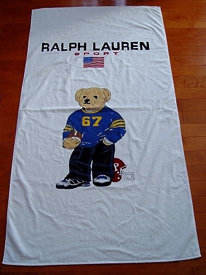 Amazon Com Ralph Lauren Sport Polo Bear Beach Towel 35 X66 Home