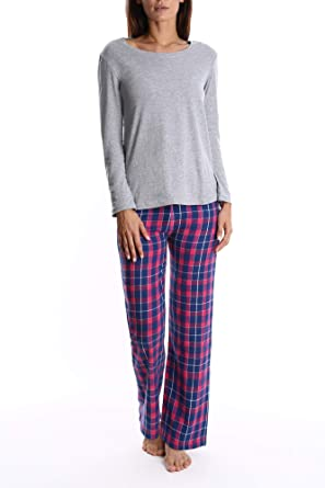 fb952ef3b3 Blis Women s Flannel Pajama Pants   Nightshirt Sleep Set - Ladies Lounge   Sleepwear  at Amazon Women s Clothing store