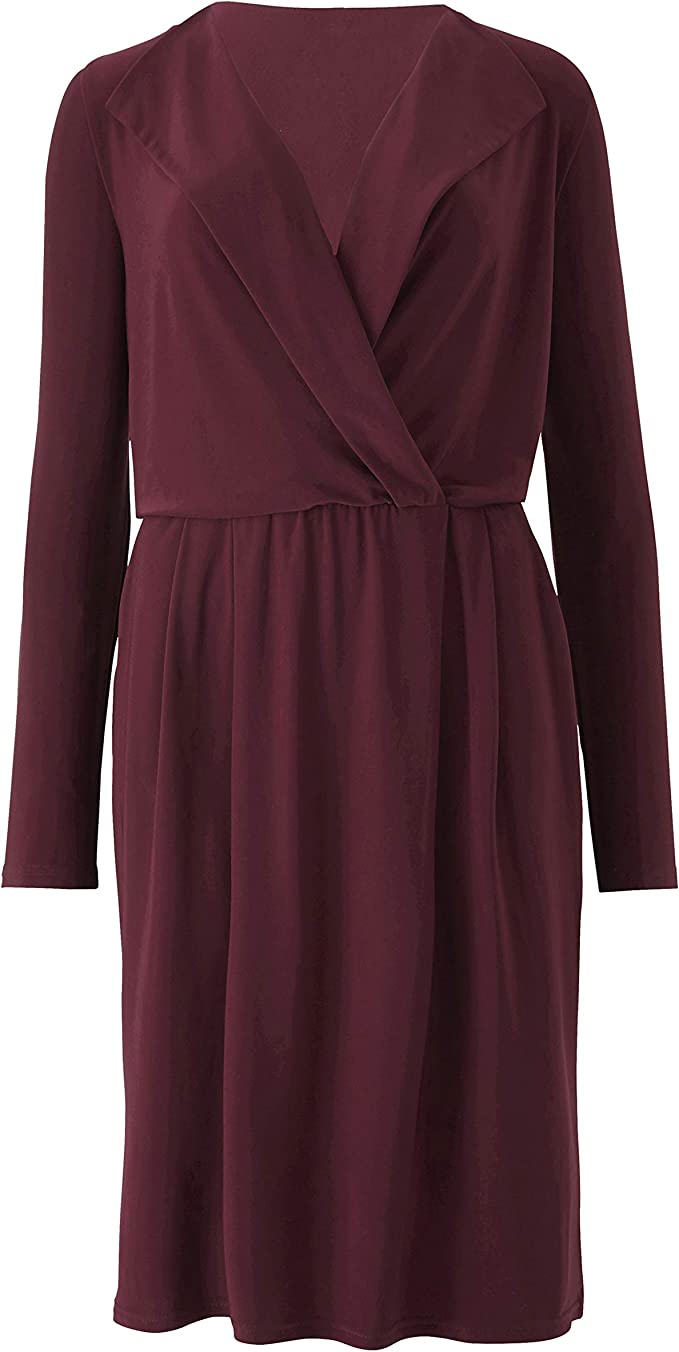 Find Downton Abbey Style Dresses in the UK JD Williams Womens Wrapover Dress Lorraine Kelly £17.72 AT vintagedancer.com