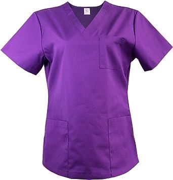 T-shirt homme Scrub Hospital Haut Tunique dentiste infirmière cliniques Vet Healthcare Spa