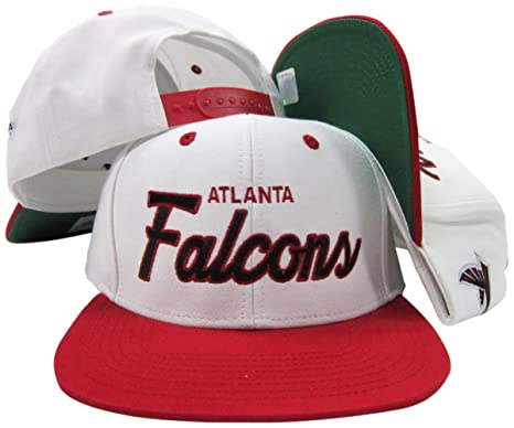 fd71786e Atlanta Falcons White/Red Script Two Tone Adjustable Snapback Hat / Cap