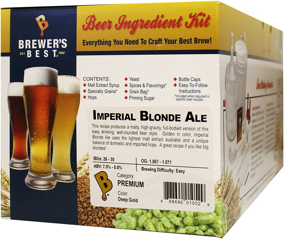 Brewer's Best - Home Brew Beer Ingredient Kit (5 Gallon), (Imperial Blonde Ale)