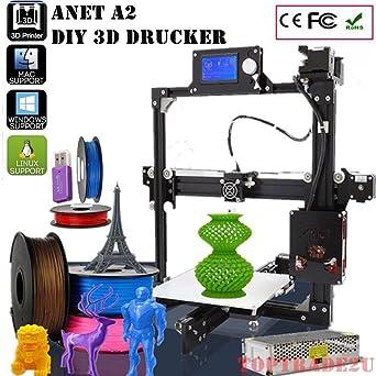 Anet A2 inteligente Impresora 3d Desktop Printer pantalla LCD DIY ...