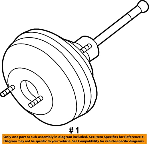 Amazon Com Volkswagen 1j1 614 106 K Power Brake Booster Automotive