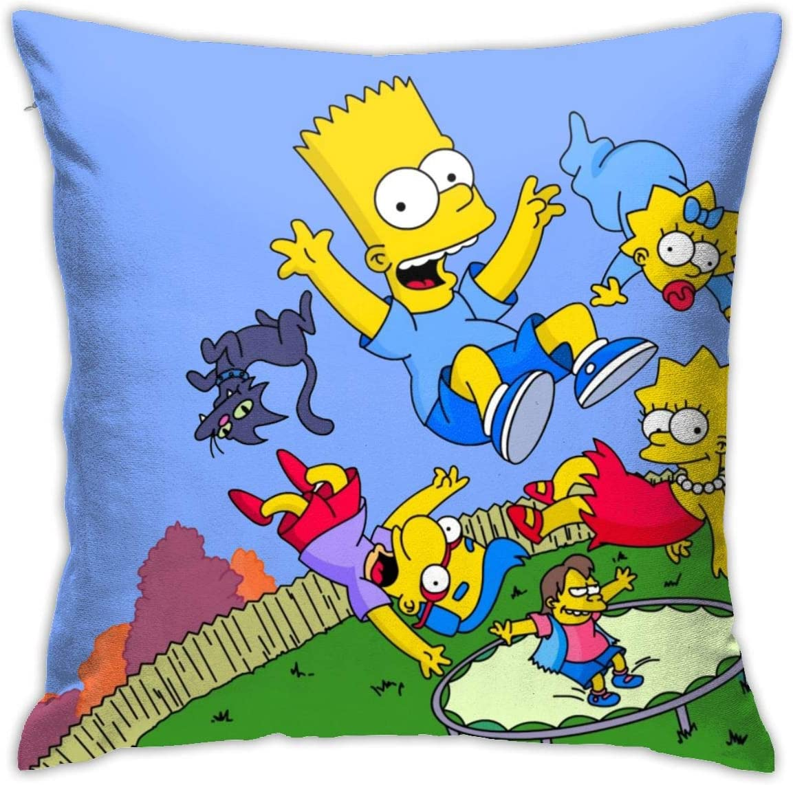 "Butvoc The Simpsons Adult Animated Sitcom Tv Square Pillow Case Home Sofa Decorative 18"" X 18""Inch Ultra Soft Comfortable"