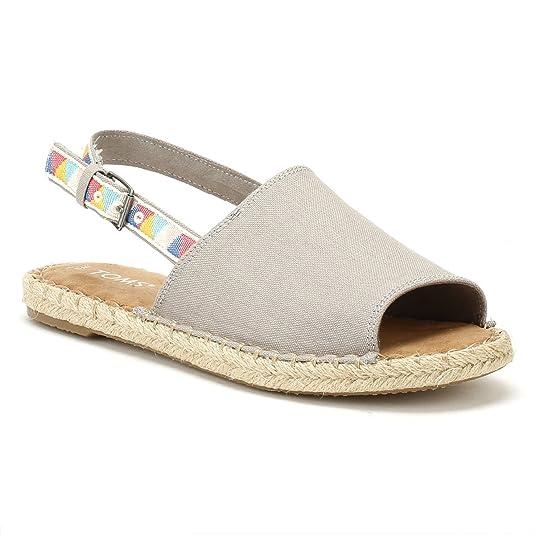 TOMS Mujer Gris Hemp Clara Espadrilles-UK 3: Amazon.es: Zapatos y complementos