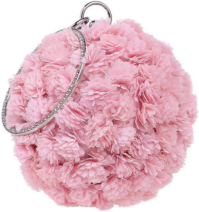 Clutches Bag for Women Ladies Evening Bag Handbag Prom Bag Purse for Cocktail Party Bridal Shoulder Bag Cross-Body Bags (Color : Black) Pink