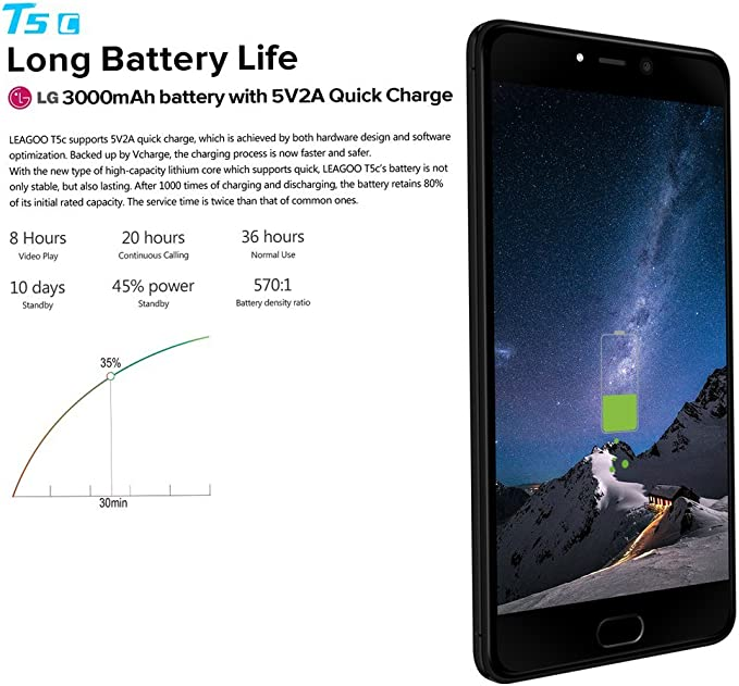 Leagoo T5 C – 5,5 pulgadas, 4 G FDD de LTE Smartphone, android 7.0 ...