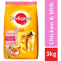 Pedigree Puppy Dry Dog Food, Chicken & Milk – 3 kg Pack
