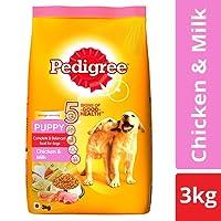 Pedigree Puppy Dry Dog Food, Chicken and Milk, 3 kg