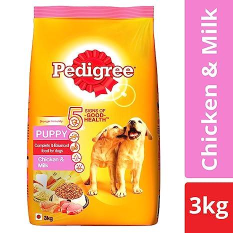 Buy Pedigree Puppy Dry Dog Food Chicken Milk 3 Kg Pack Online