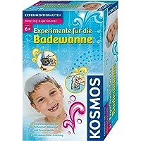 KOSMOS 657130 Experimente für die Badewanne, Experimentierspaß mit Seifenboot, Wasserrad und Taucherglocke, Experimentierset für Kinder, Badewannen-Spielzeug für Mädchen und Jungen ab 6 Jahre