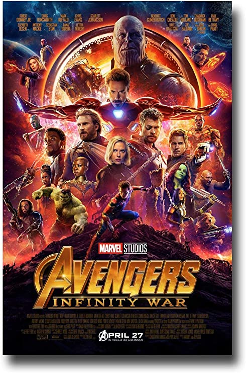 CHOOSE YOUR SIZE FREE P+P Infinity War Poster Marvel Avengers Movie NEW 2018