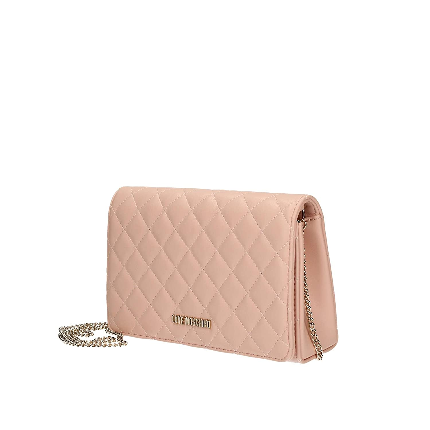 90db039451 Amazon.com: LOVE Moschino Women's Quilted Evening Clutch Light Pink One  Size: Shoes