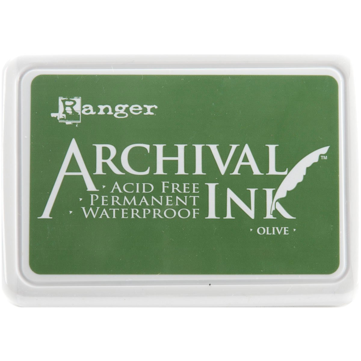 Ranger Archival Jet Black Permanent Dye Ink Stamp Pad & Re-Inker Refill 4336989874