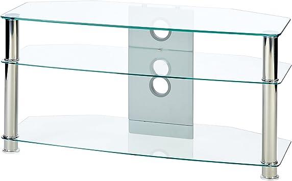 Mmt Meuble TV pour /écran Jusqu/'/à 46 Transparent//chrom/é