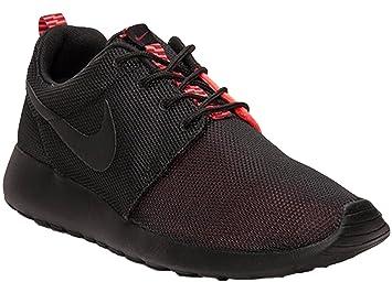 finest selection ef89b 5f3ce ... norway nike sportswear mens roshe run black atomic red c948a 9b1d8