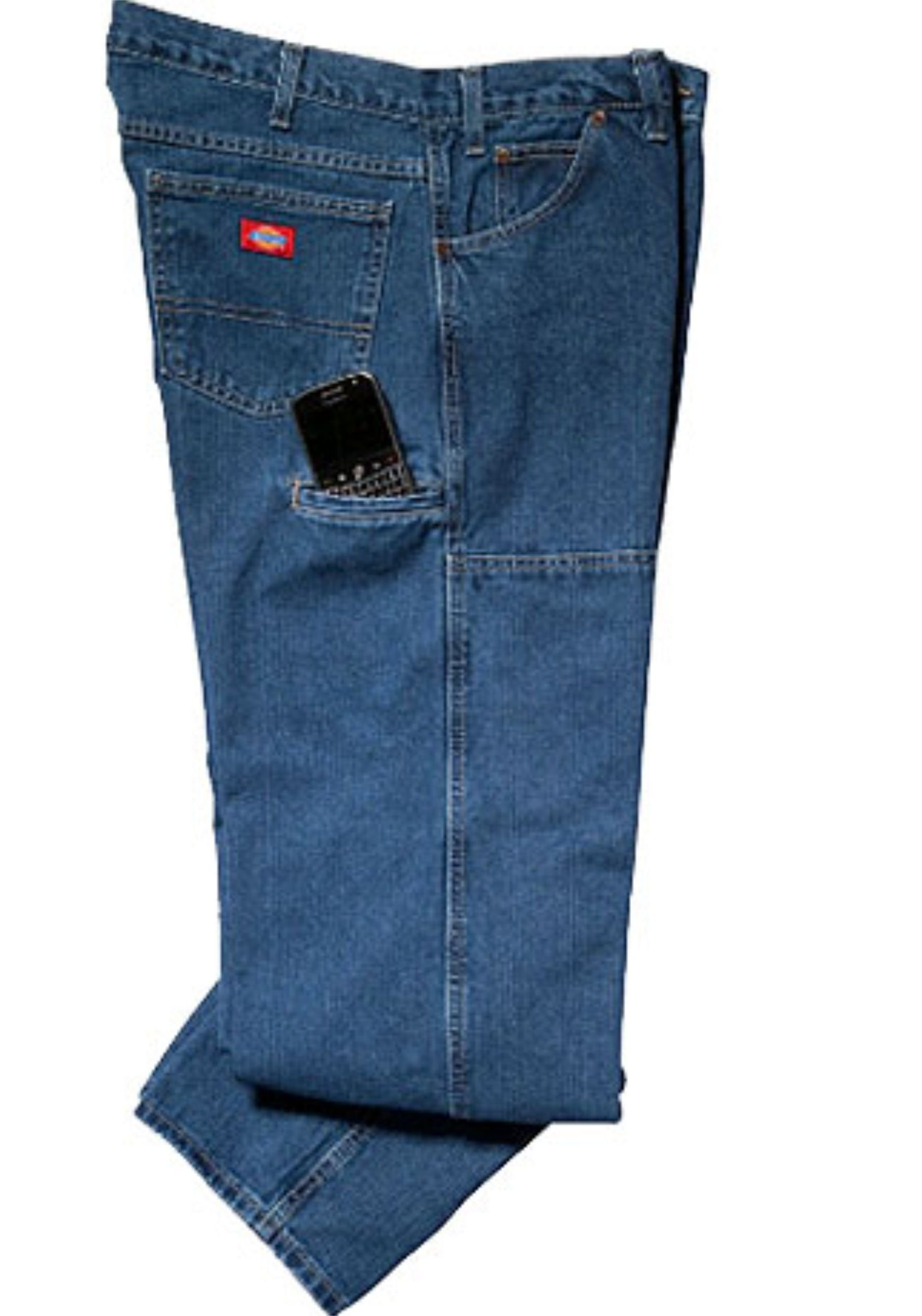 fe3f0bb36e6 Dickies Men s Relaxed-Fit Double-Knee Workhorse Jean - Denim Fit