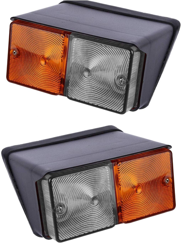 Par Parte Delantera Luz Indicadora De Intermitencia Guardabarros delantero luz para Ford Tractores 12V -11009401