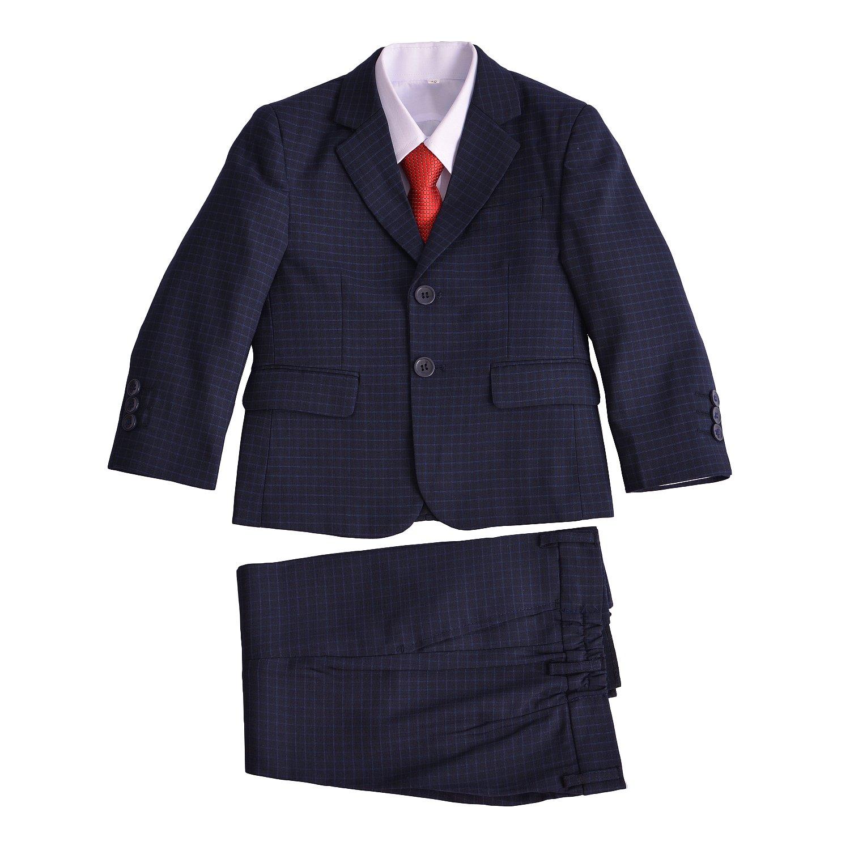 Cinda 5 pezzi blu vestiti controllati del ragazzo ZY1829