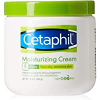 Cetaphil Moisturizing Cream for Very Dry, Sensitive Skin, Extra Strength, Fragrance Free 16 oz.(Pack of 3)