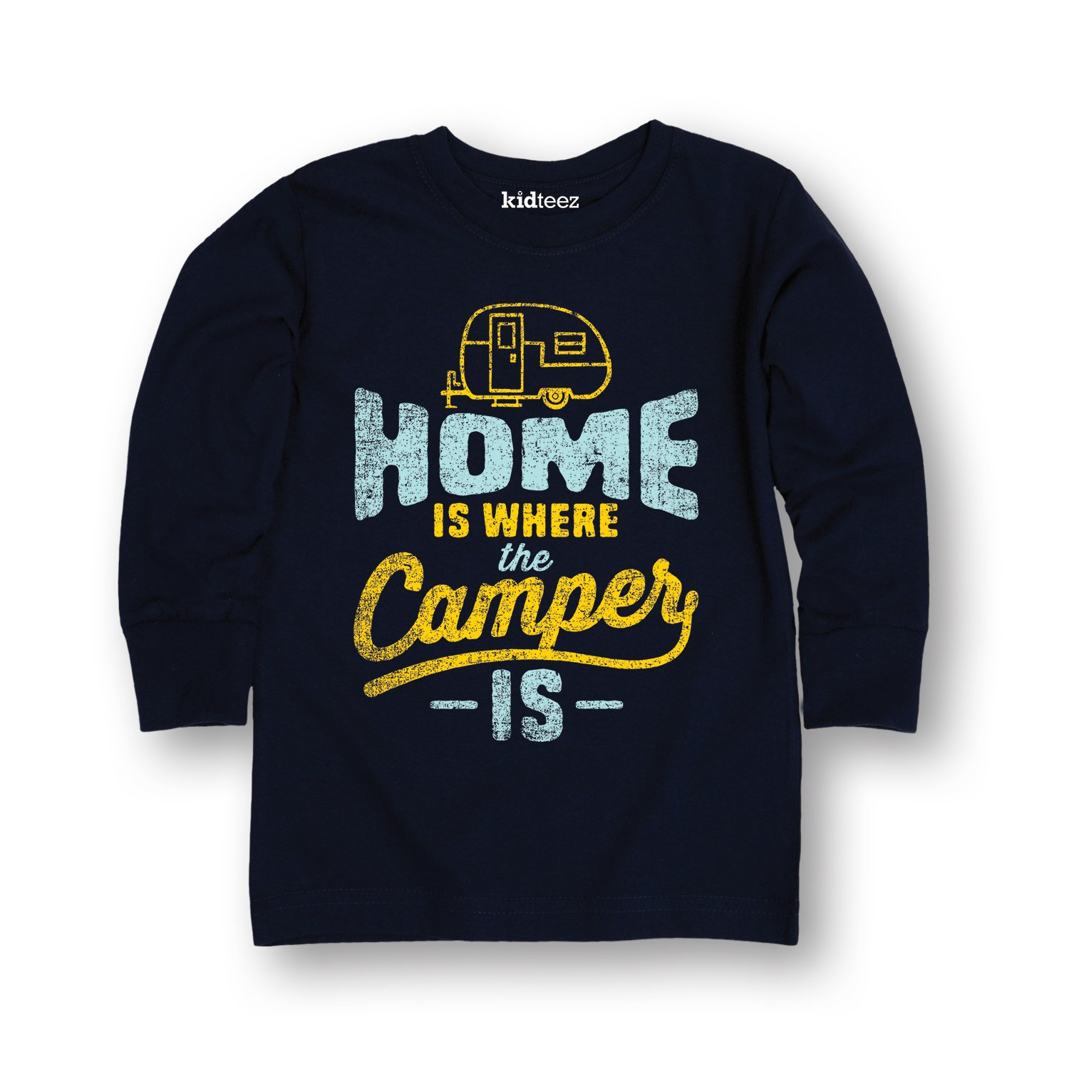 Home is Where The Camper is-Toddler Long Sleeve TEE