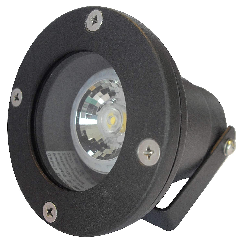 4 Stück IP68 MCOB LED Boden Aufbauleuchte Sophie Schwarz 230 Volt 7 Watt Lichtfarbe Warmweiß