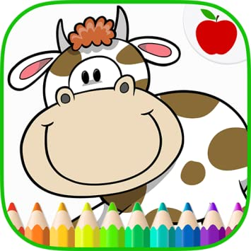 Amazon Com Farm Animals Coloring Book Art Game For Kids Appstore
