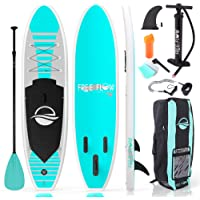 SereneLife Inflatable Stand Up Paddle Board (6 Inches Thick) with Premium SUP Accessories & Carry Bag | Wide Stance…