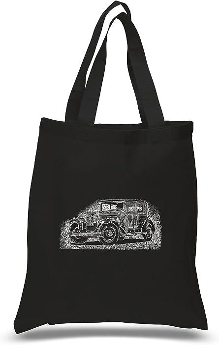 587b66af9 Amazon.com  LA POP ART - Small Tote Bag - Legendary Mobsters - Black - Small   Clothing