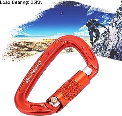 Injoyo 10pcs Ext/érieur Portable Alliage Daluminium Mousqueton Alpinisme Sac Mousqueton