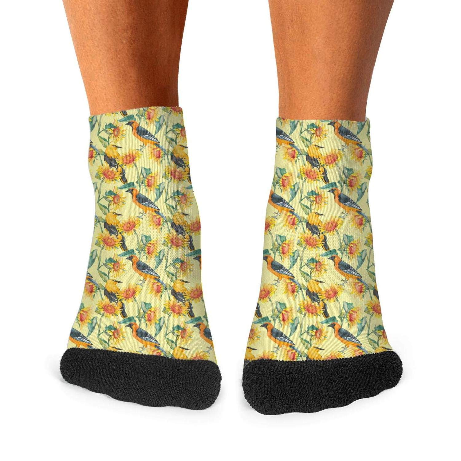 Ethnic Sunflower Brown mens socks vintage skin-friendly compression socks individuality short socks Unisex