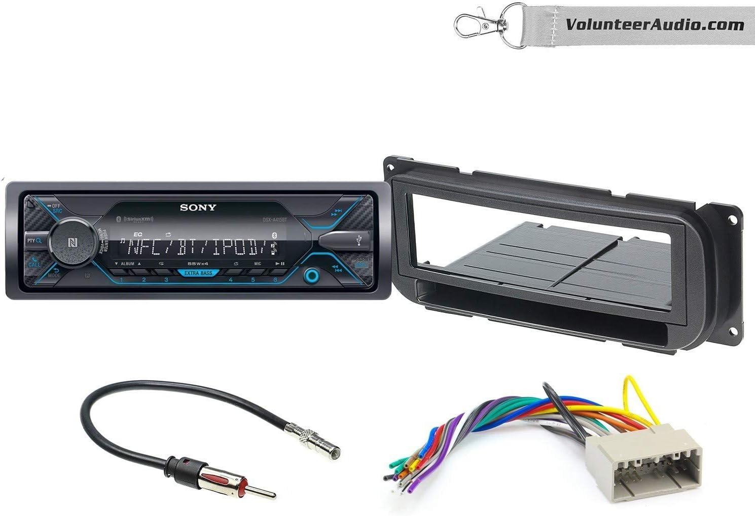 Sony DSX-A415BT Single Din Radio Install Kit With Sirius XM Ready, NO CD Player, AUX/USB Fits 2002-2010 Dodge Ram, Durango, Jeep Wrangler