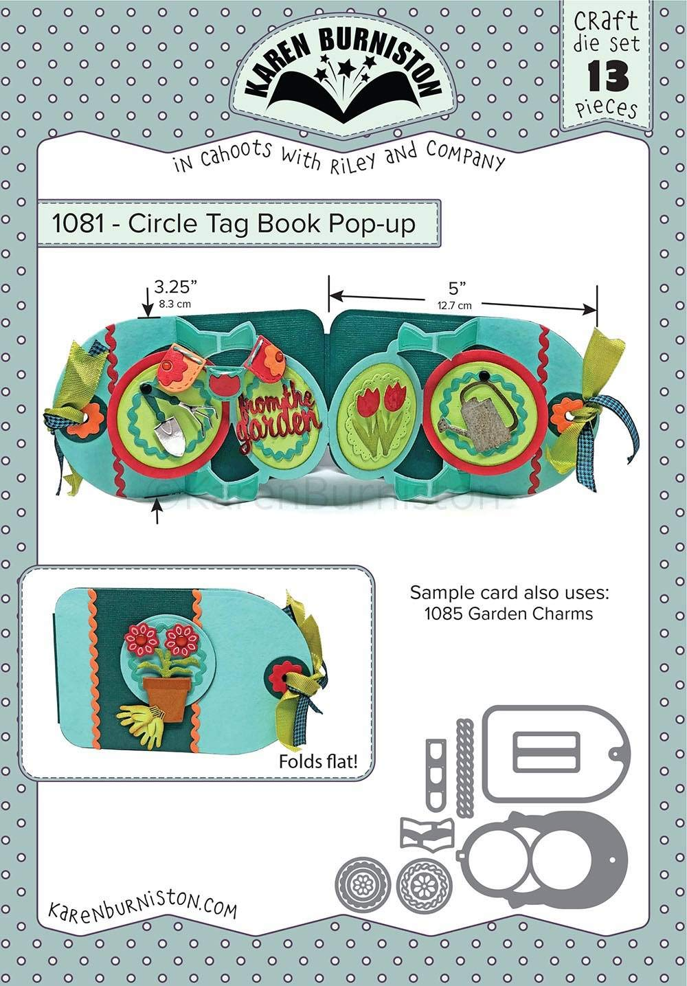 Karen Burniston Dies-circle Tag Book Pop-up