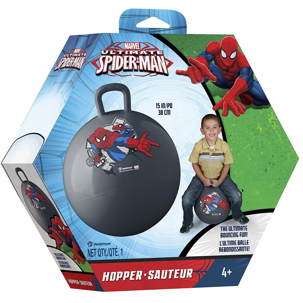 Marvel Ultimate Spiderman Inflatable Hopper Ball, Red, 15''