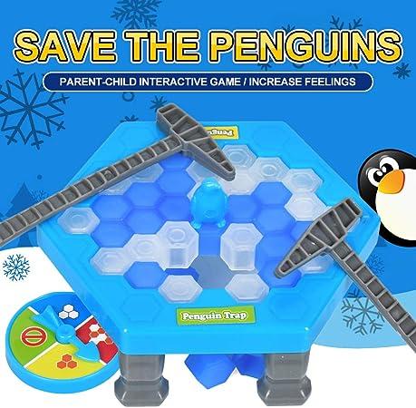 SUT Mini Tap Pingüino, Juego De Mesa, Juguete Educativo Interactivo Entre Padres E Hijos,Blue: Amazon.es: Hogar