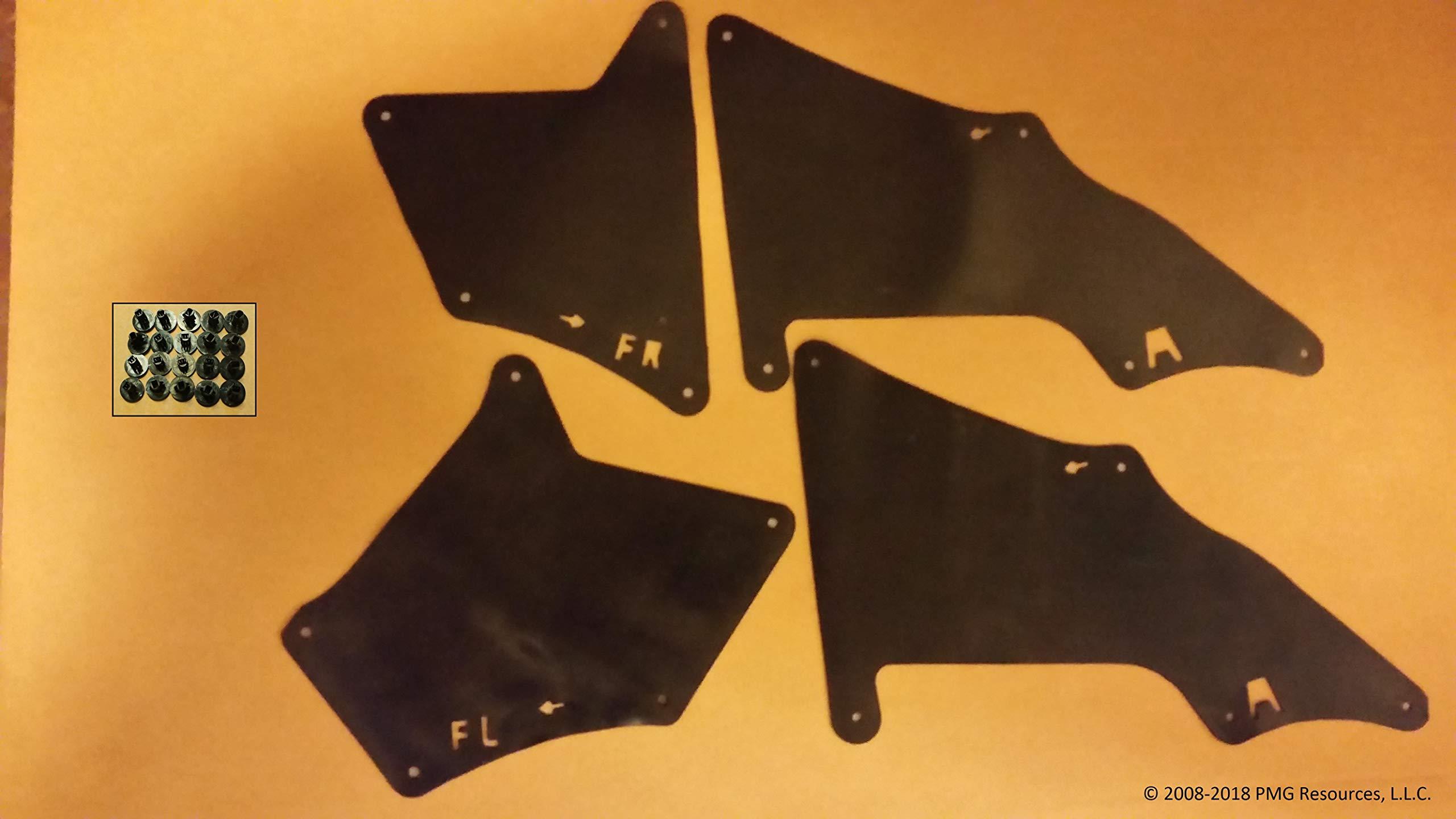 Yota Liners Set of Four Splash Shields with Clips for 4Runner 2010-2018 (Fender Liner, Apron, Shield, Splash Guard, Skirt, Guard, Seal, Splash Seal) A